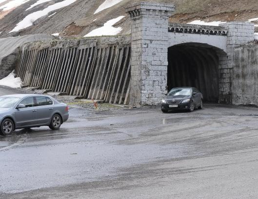 Old georgian military road - tunnel