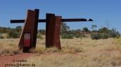 """Signpost """"Red Centre Way"""" at the corner of Larapinta and Namatjara Drive"""