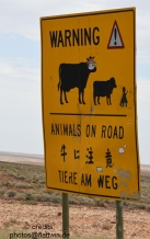 Road sign at Stuart Highway